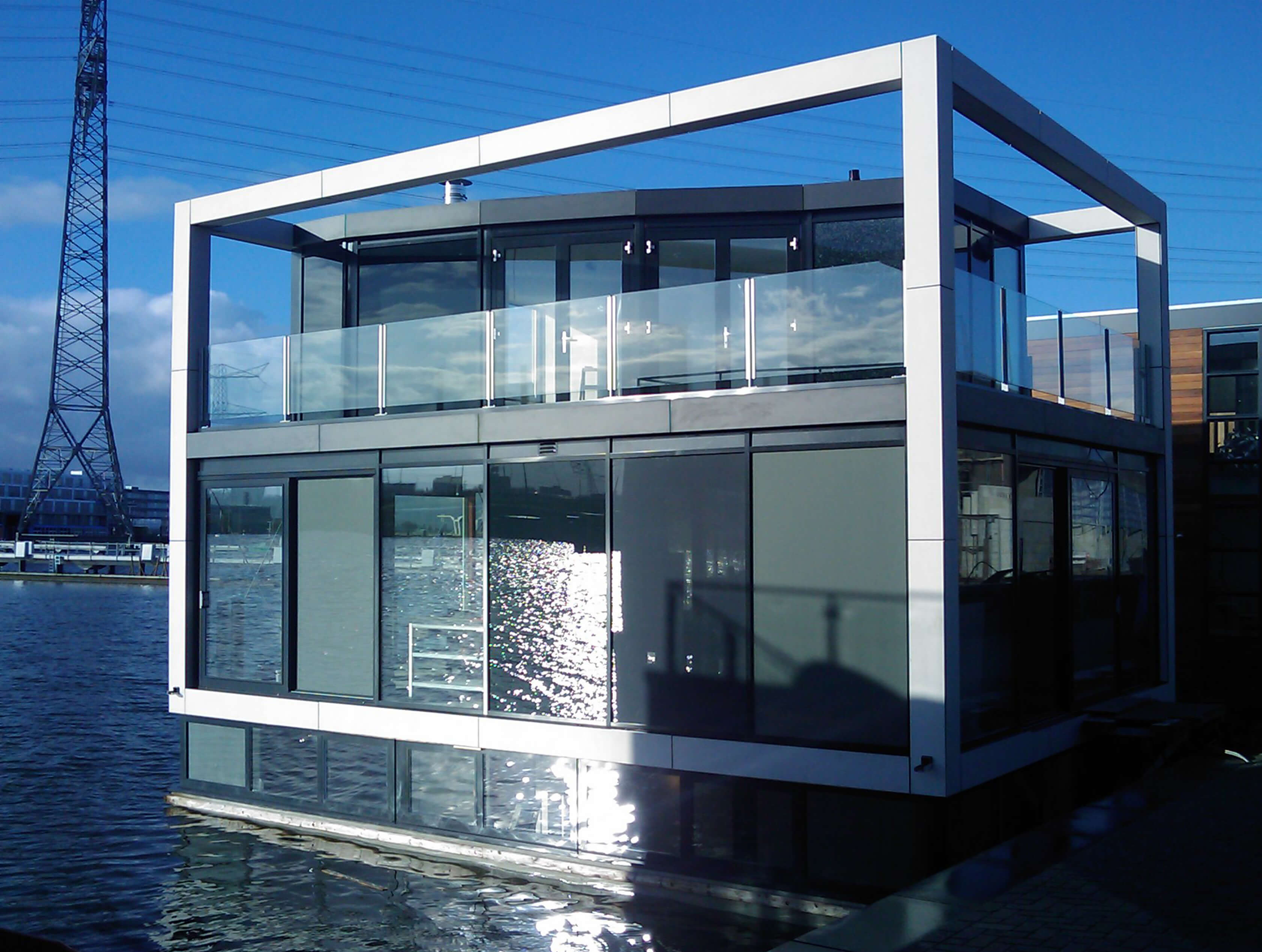 This Unique Floating Villa Located In IJburg, Amsterdam Is Now For Sale.