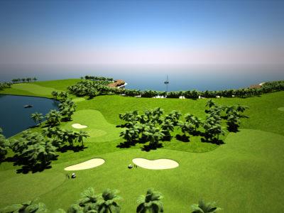 Floating Golfcourse