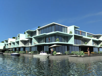 Floating Apartmentcomplex Amsterdam, The Netherlands
