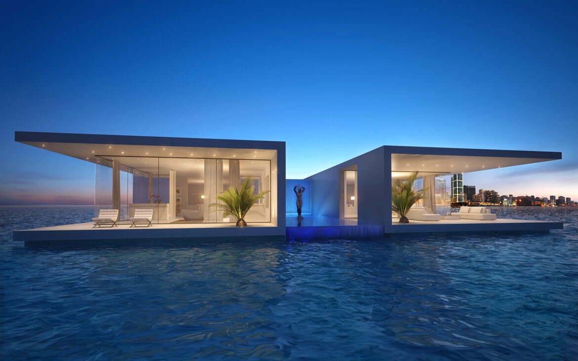 Floating villa lebanon waterstudio - Libanese villa ...