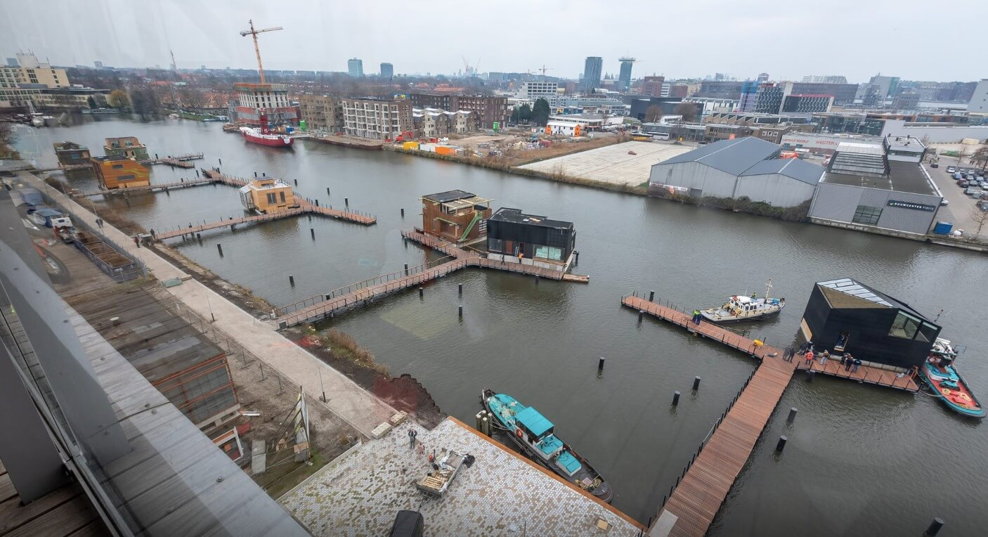 First Floating Duplex-house Schoonschip Arrived At Its Location In Amsterdam