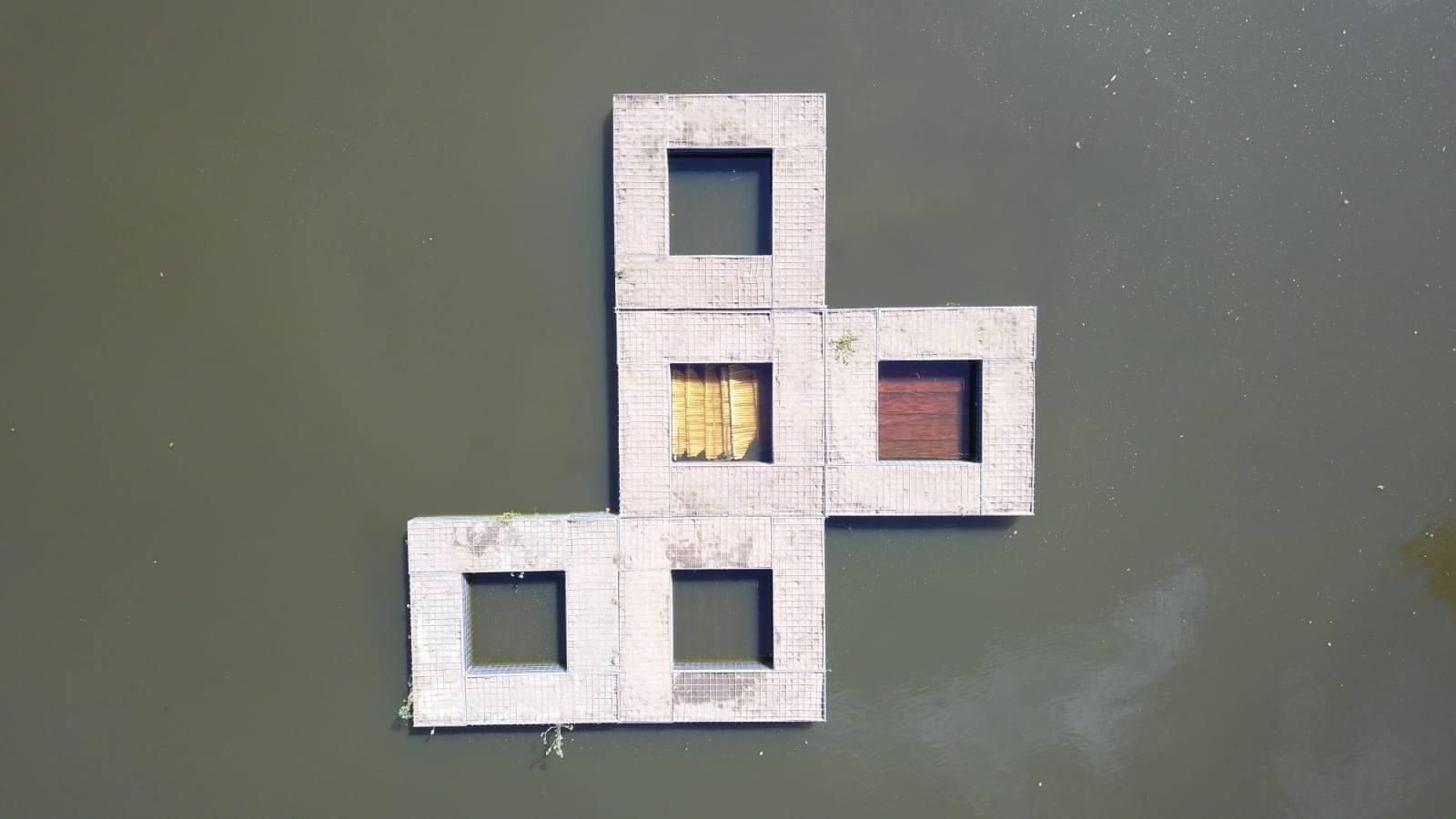 Drijvende Eilanden In Tongelreep Eindhoven Om Waterkwaliteit Te Verbeteren
