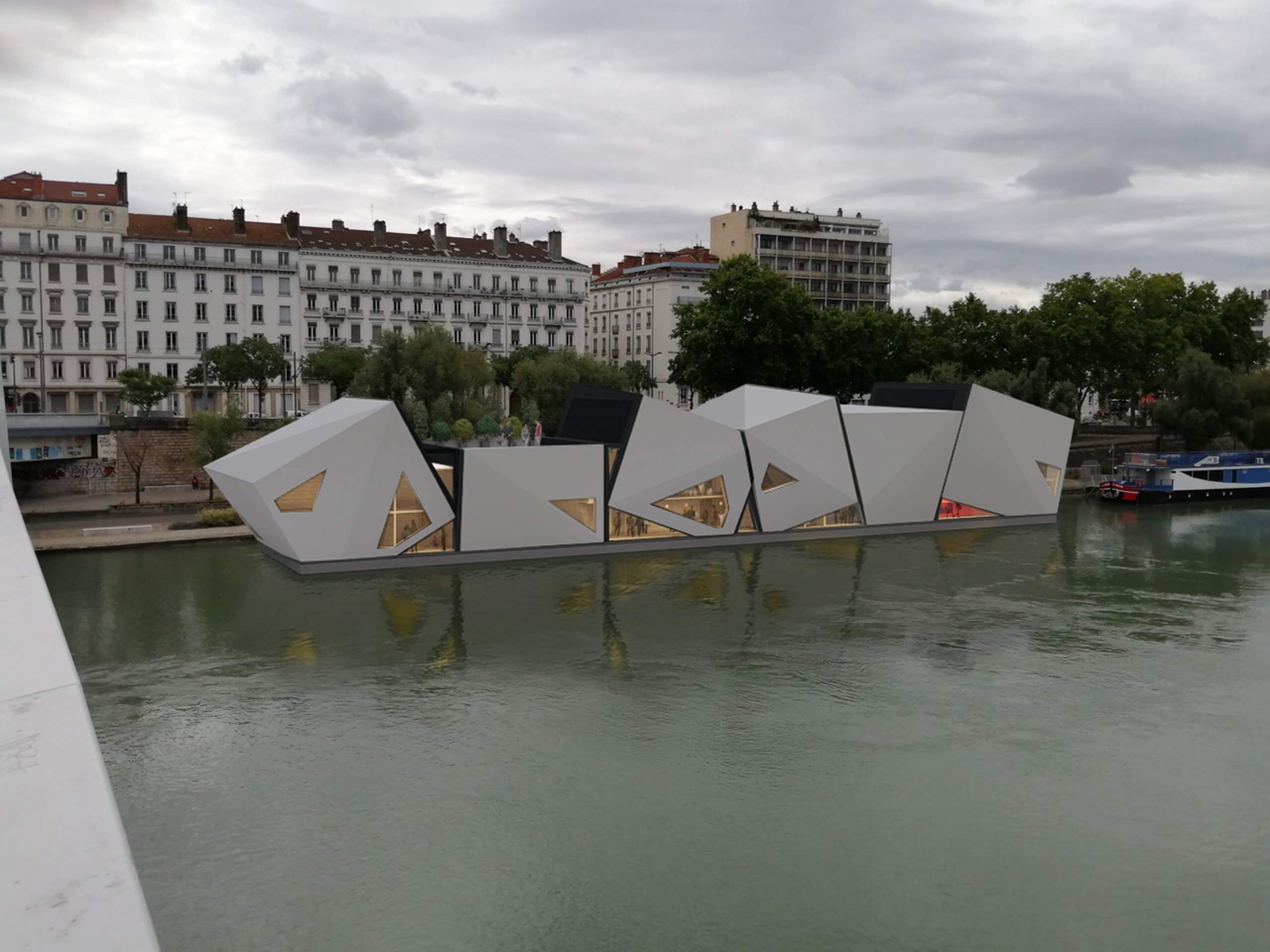 Floating Theater Lyon On French Television