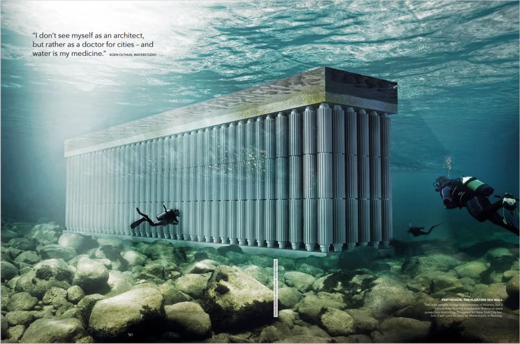 Waterstudio - floating seawall